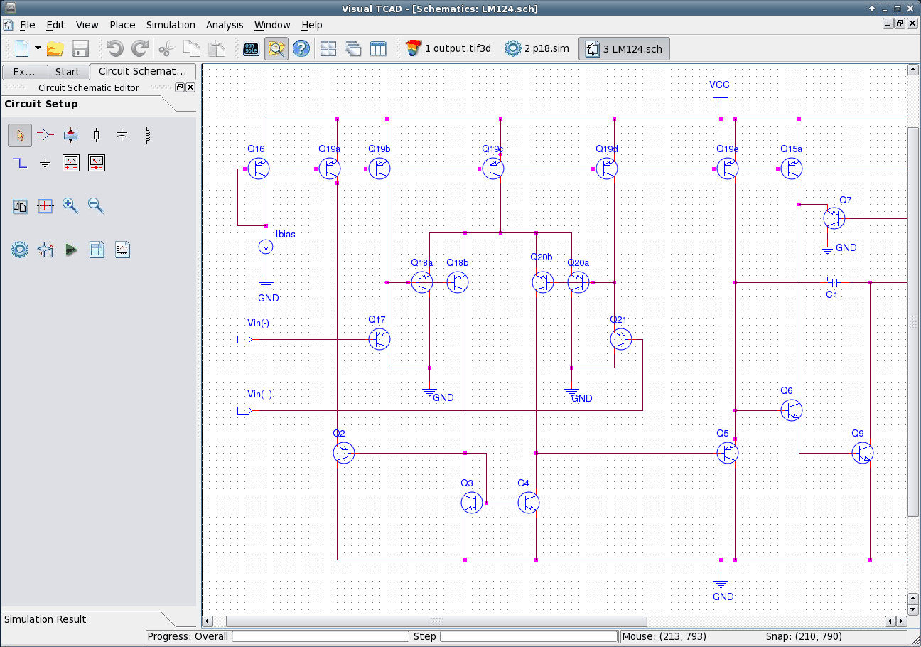 Visualtcad User Graphical Interface For Device Simulation Online Circuit Sim Screenshot Of The Module